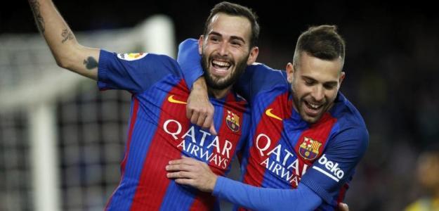 Aleix Vidal y Jordi Alba (FC Barcelona)