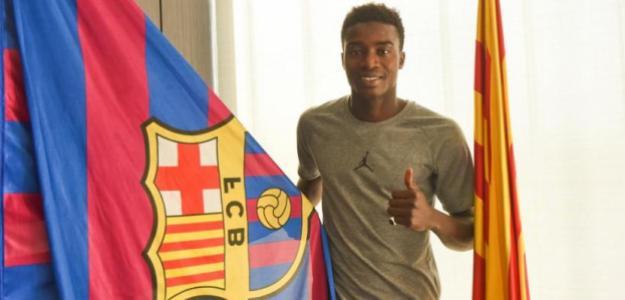 Wagué, el día de su fichaje (FC Barcelona)