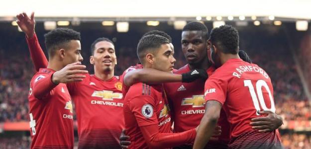 Jugadores del Manchester United / Facebook.