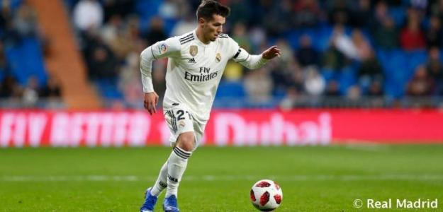 Brahim, durante un partido (Real Madrid)