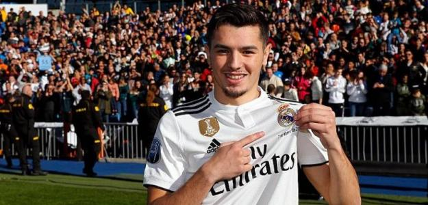 Brahim en su presentación / Foto. Real Madrid
