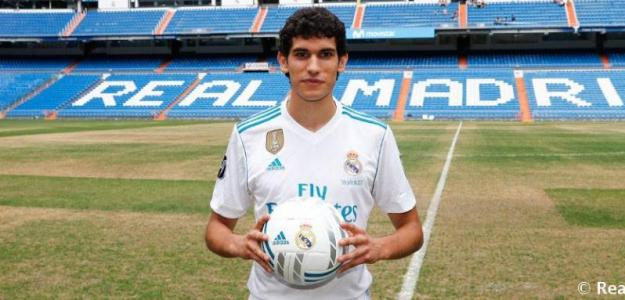 Vallejo en su presentación / Real Madrid