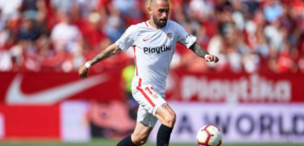 """""""El plan estratégico del Sevilla con Aleix Vidal./ Foto: Getty Images"""""""