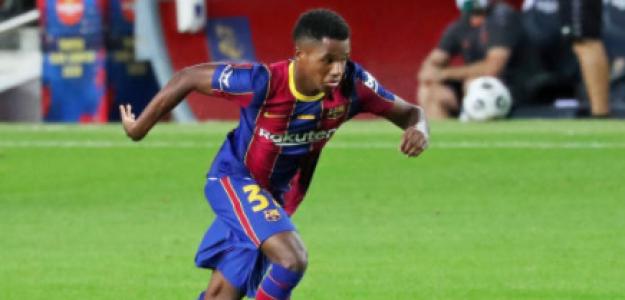 """""""El Barça continúa estando pendiente de la renovación de Ansu Fati. Foto: Getty Images"""""""