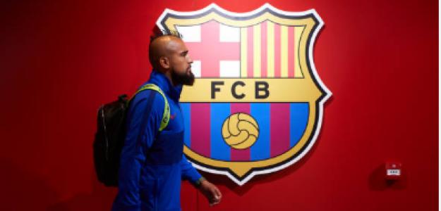 """""""Arturo Vidal, la llave para la llegada de Lautaro al Barça. Foto: Getty Images"""""""