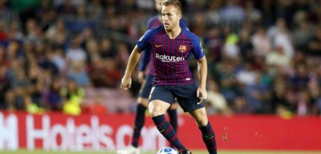 Arthur, durante un partido (FC Barcelona)