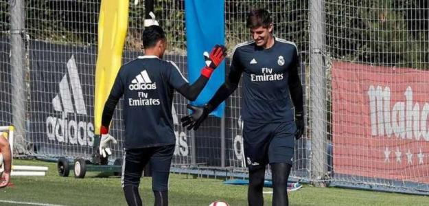 Zidane no se decide entre Keylor y Courtois. Foto: elespañol.com