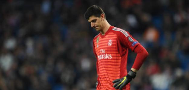 """""""Courtois podría perderse la vuelta de Champions frente al City. Foto: Getty Images"""""""