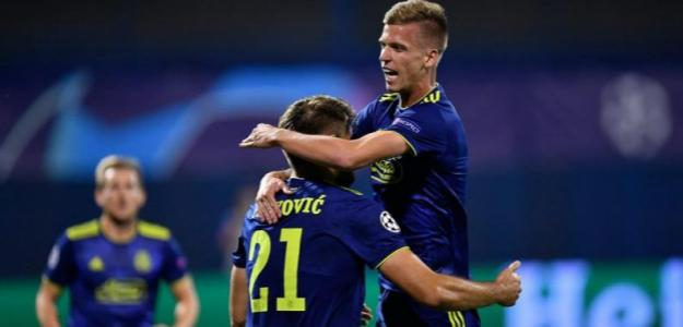 Dani Olmo celebrando un gol en Champions. / sportske.jutarnji.hr