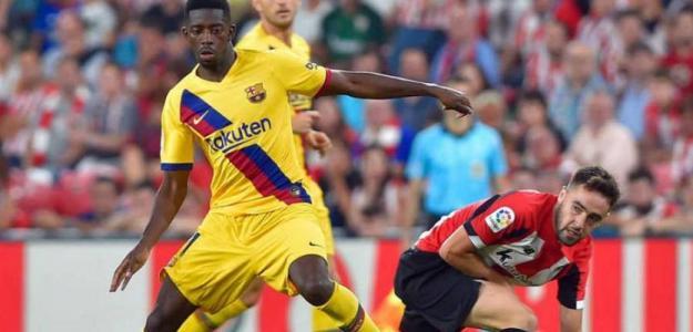 Dembélé en el útlimo partido con el Barcelona