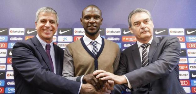 Mestre, Abidal y Segura. Foto: FC Barcelona.