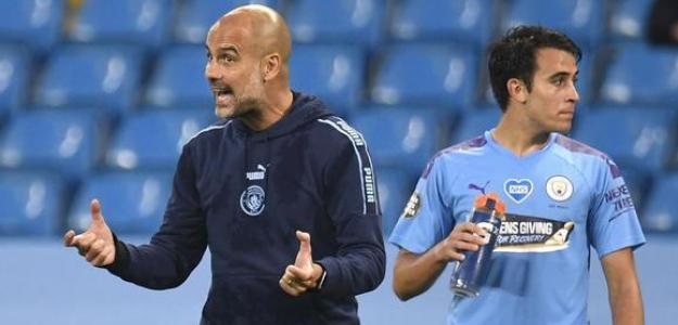 Eric García reta a Pep Guardiola. Foto: Depor