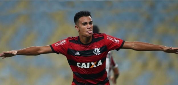 Reinier, durante un partido / Flamengo.