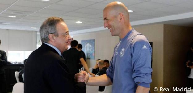 Florentino Pérez y Zinedine Zidane, líderes del Real Madrid actual y del futuro / Real Madrid