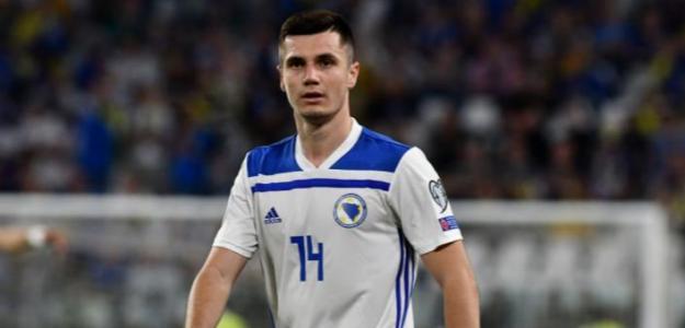 Amer Gojak en un partido con el Dinamo de Zagreb. / grada3.com