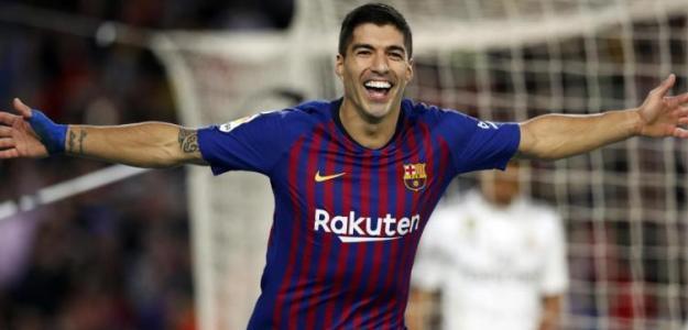 Luis Suárez, celebrando un gol con el Barça / FC Barcelona.