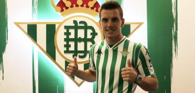 Lo Celso, el día de su fichaje (Real Betis)
