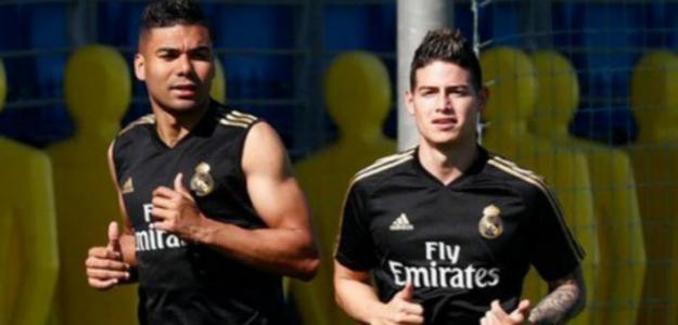 James Rodríguez entrenando / REAL MADRID