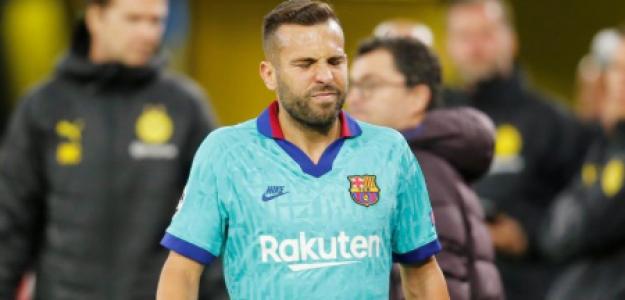 """Problemas en el Barça con la lesión de Jordi Alba """"Foto: Marca"""""""