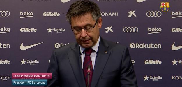 Josep María Bartomeu ante los medios de comunicación. Foto: FCBarcelona.es