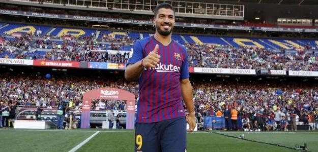 Suárez, en el Camp Nou (FC Barcelona)