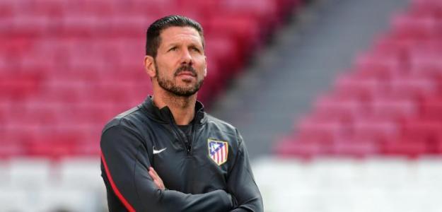 Simeone en un entrenamiento / Atlético