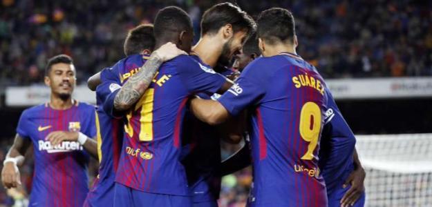 Jugadores del FC Barcelona. Foto: Beesoccer.com