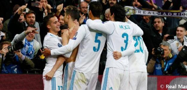 Jugadores del Real Madrid celebrando un gol. Foto: RealMadrid.com
