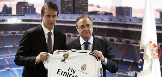 Julen Lopetegui y Florentino Pérez. Foto: RealMadrid.com