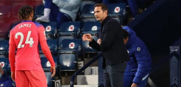 La dirección de campo de Lampard contra el WBA | Foto: Talksport