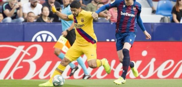 El uruguayo no pudo terminar el partido contra el Levante. FOTO: FC BARCELONA