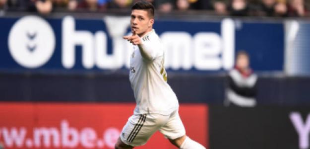 """""""El Milan trata de convencer a Luka Jovic. Foto: Getty Images"""""""