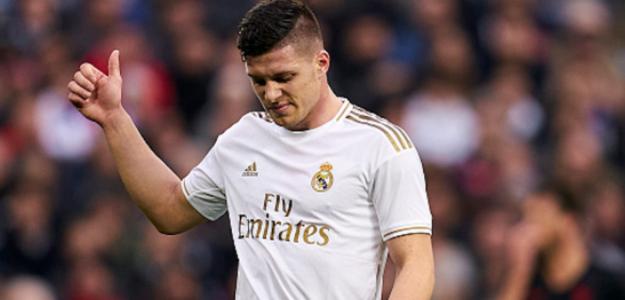 """Luka Jovic sigue teniendo mucho olfato goleador, pero necesita minutos """"Foto: Nación Deportes"""""""