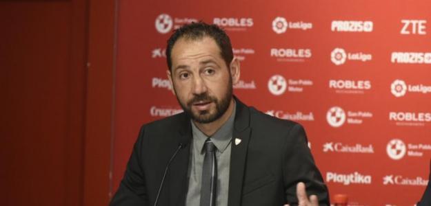Machín en rueda de prensa / Foto: Sevilla