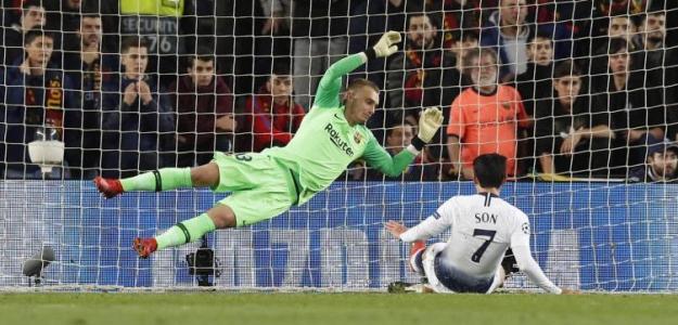 Cillessen, contra el Tottenham (FC Barcelona)