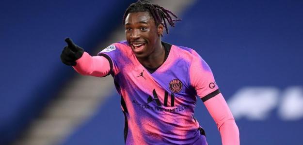 Moise Kean sigue meditando su futuro. Foto: Ligue 1
