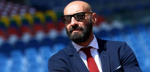 Monchi tras firmar con la Roma / Getty