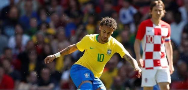Neymar durante un partido ante Croacia / Youtube