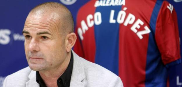Paco López, entrenador del Levante. Foto: Lasprovincias