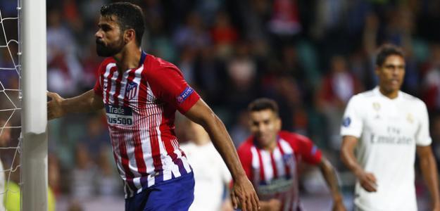 Costa celebra su gol ante el Madrid (Atlético)