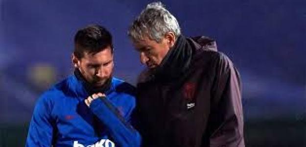 Quique Setién raja de Messi. Foto: Bitbol