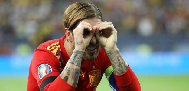 Ramos celebrando un gol con la Selección. / hola.com