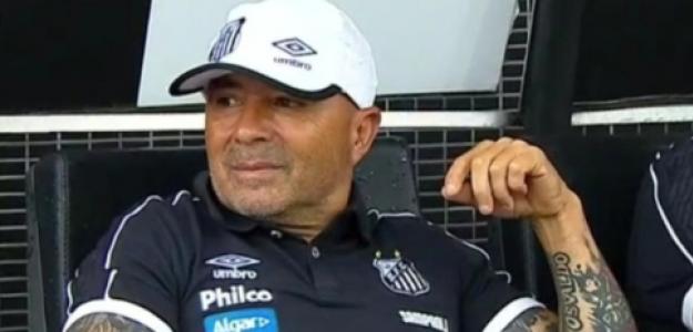 "Sampaoli vuelve a sonreír en Brasil ""foto: CDF"""