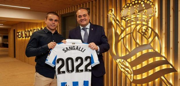 Luca Sangalli renueva con la Real Sociedad hasta 2022 / Twittter