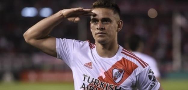 """River Plate recibió una oferta por Santos Borré """"Foto: Marca"""""""