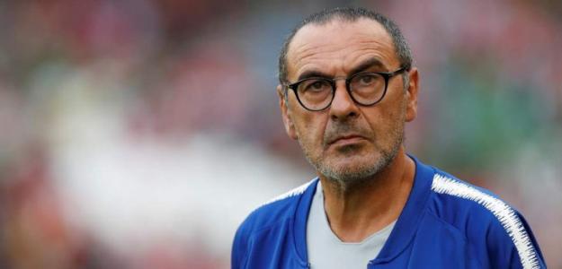 Sarri en un partido con el Chelsea / Chelsea