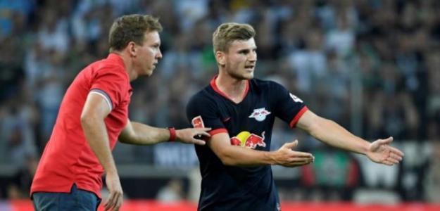 Nagelsmann y Werner durante un partido. / sports.yahoo.com
