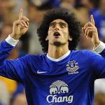 Marouane Fellaini celebra un gol con el Everton/ Lainformacion.com