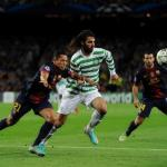 Georgios Samaras durante el Barcelona-Celtic de Glasgow/ Lainformacion.com