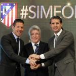 Simeone, Cerezo y Caminero (Atlético)